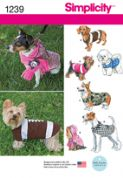 1239 Simplicity Pattern: Dog Coats in Three Sizes